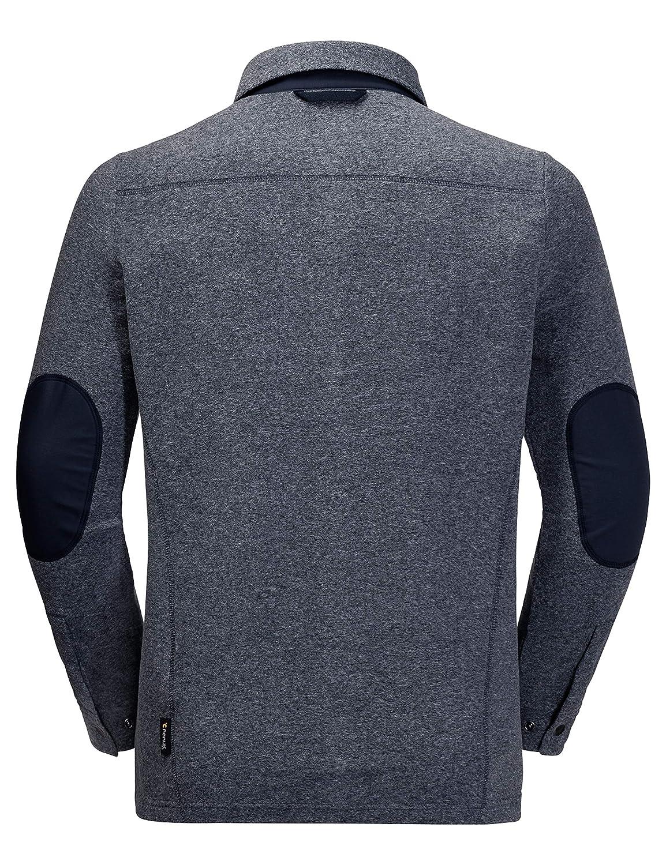 wholesale sales top quality pretty cool Jack Wolfskin Men's Rogaland Shirt Fleece Elbow Patch Shirt