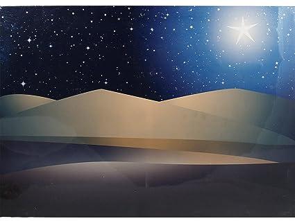 Bertoni in legno del deserto con cielo stellato paesaggio e