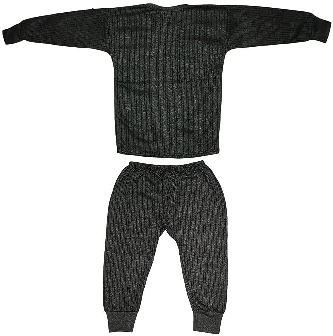 87989ab2c51 KIFAYATI BAZAR Kids Unisex Body Warmer Thermal Winter Wear (Top + Bottom)  Multi-Color(Set of 2)  Amazon.in  Clothing   Accessories