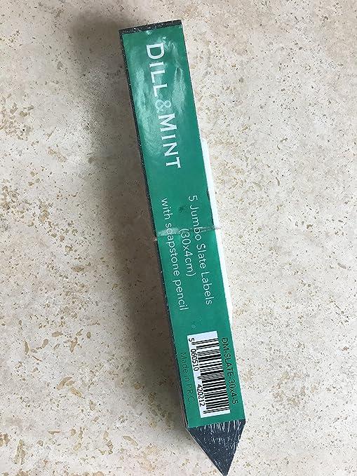 dill and mint 5 Etiquetas Jumbo de Pizarra (30 x 4 cm) con lápiz ...