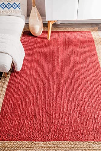 Nuloom 3 x 5 Hand Woven Eleonora Rug in Red