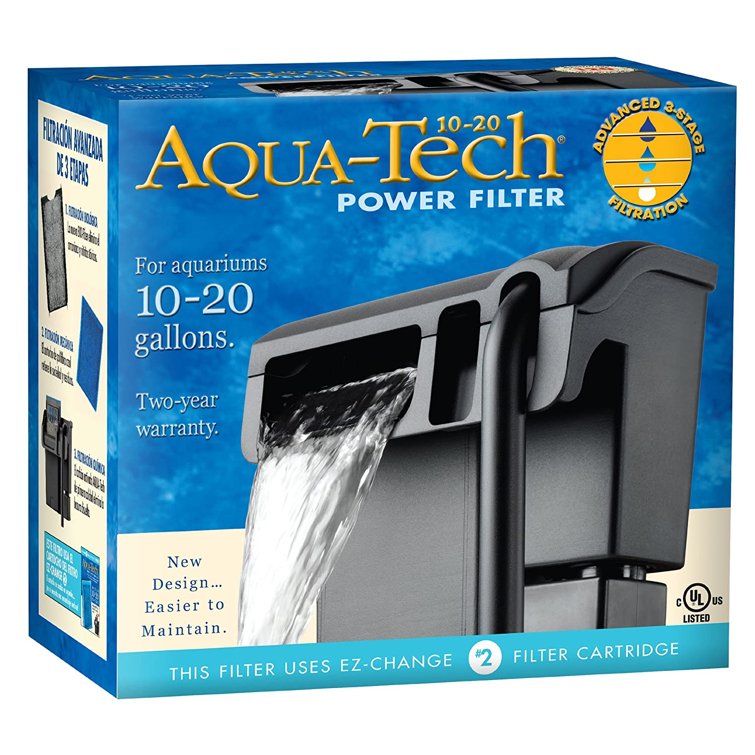 Amazon Aqua Tech Power Aquarium Filter 10 to 20 Gallon