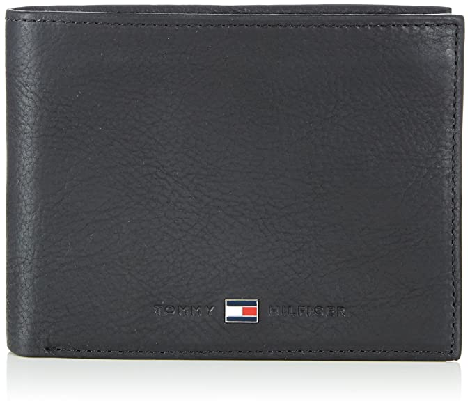 Tommy Hilfiger Soft Leather Extra Cc & Coin, Portefeuilles homme, (Black), 2.5x13x10 cm (B x H x T)