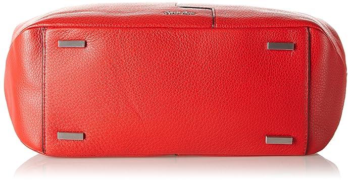438f2eadecf Calvin Klein Jeans Women's MIA Chain Tote Bag, (Fiery RED/Beach 902),  28x13x33 cm (B x H x T): Amazon.co.uk: Shoes & Bags