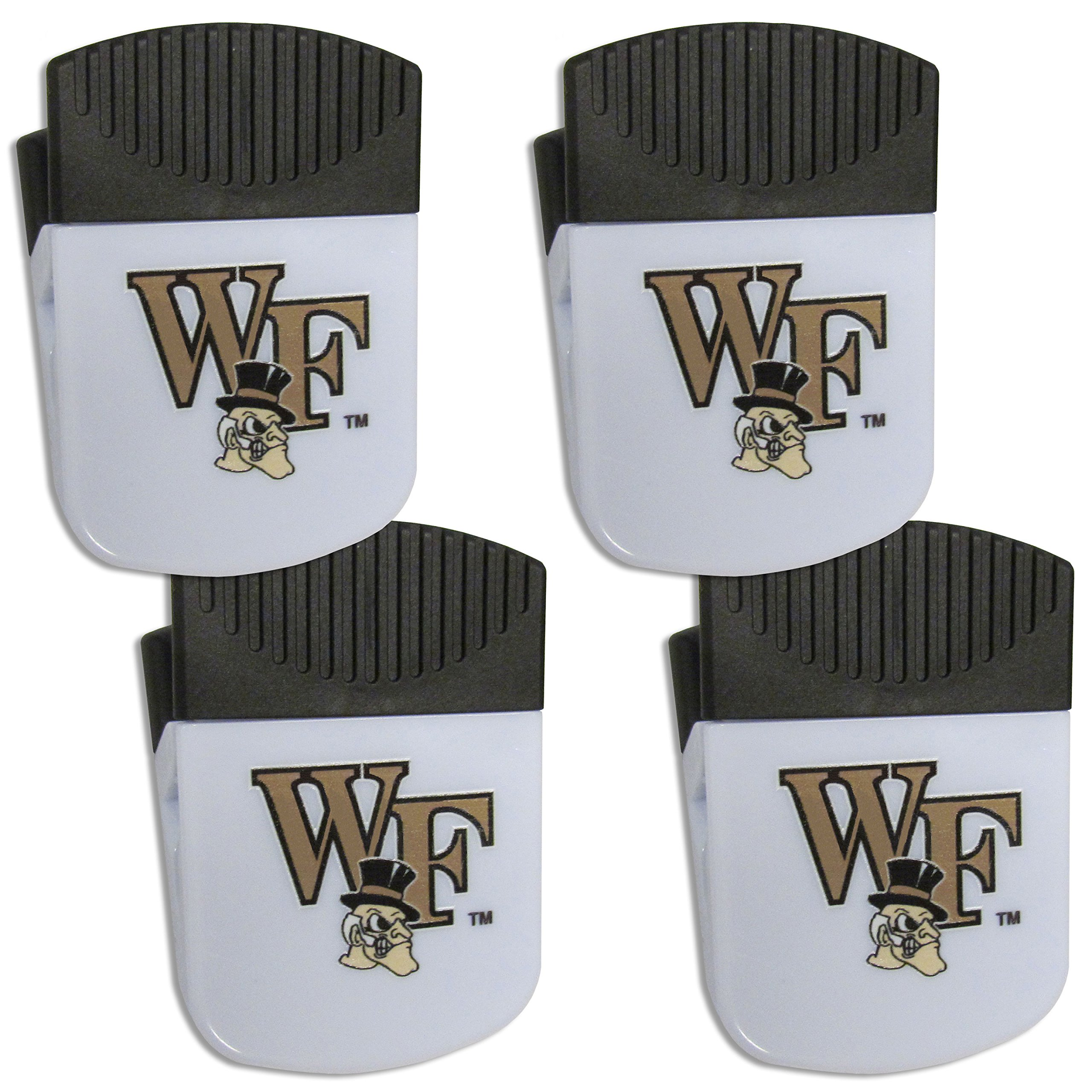 Siskiyou NCAA Wake Forest Demon Deacons Chip Clip Magnet with Bottle Opener, 4 Pack