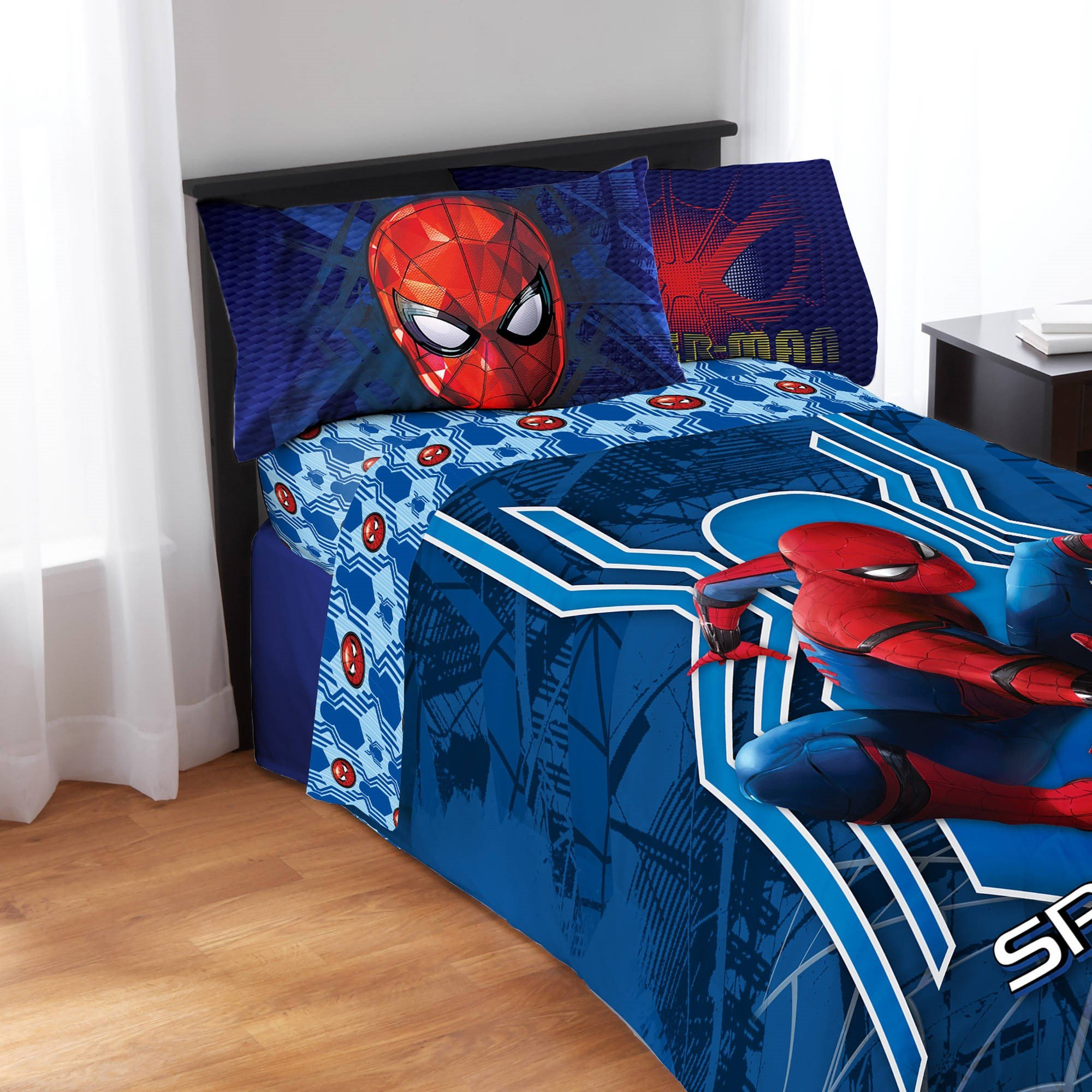 Marvel Spiderman Homecoming 4 Piece Full Sheet Set by CRB