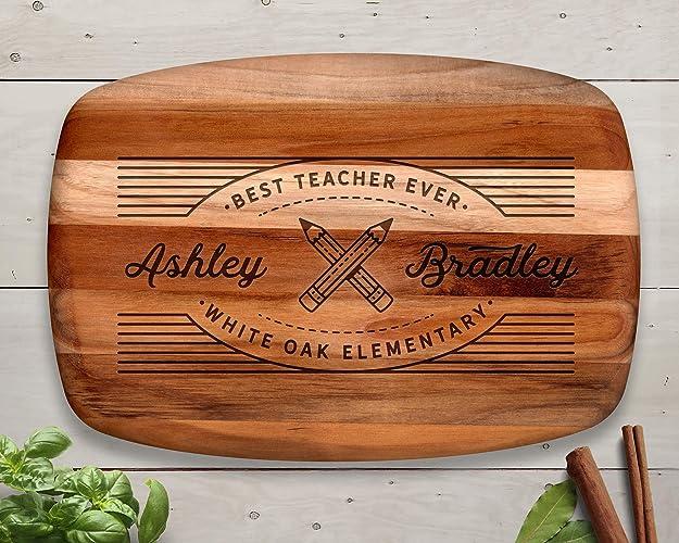 awesome Thank You Board Ideas Part - 16: Teacher Appreciation, Cutting Board, Teak, Teacher, Personalized Cutting  Board, Teacher Gifts