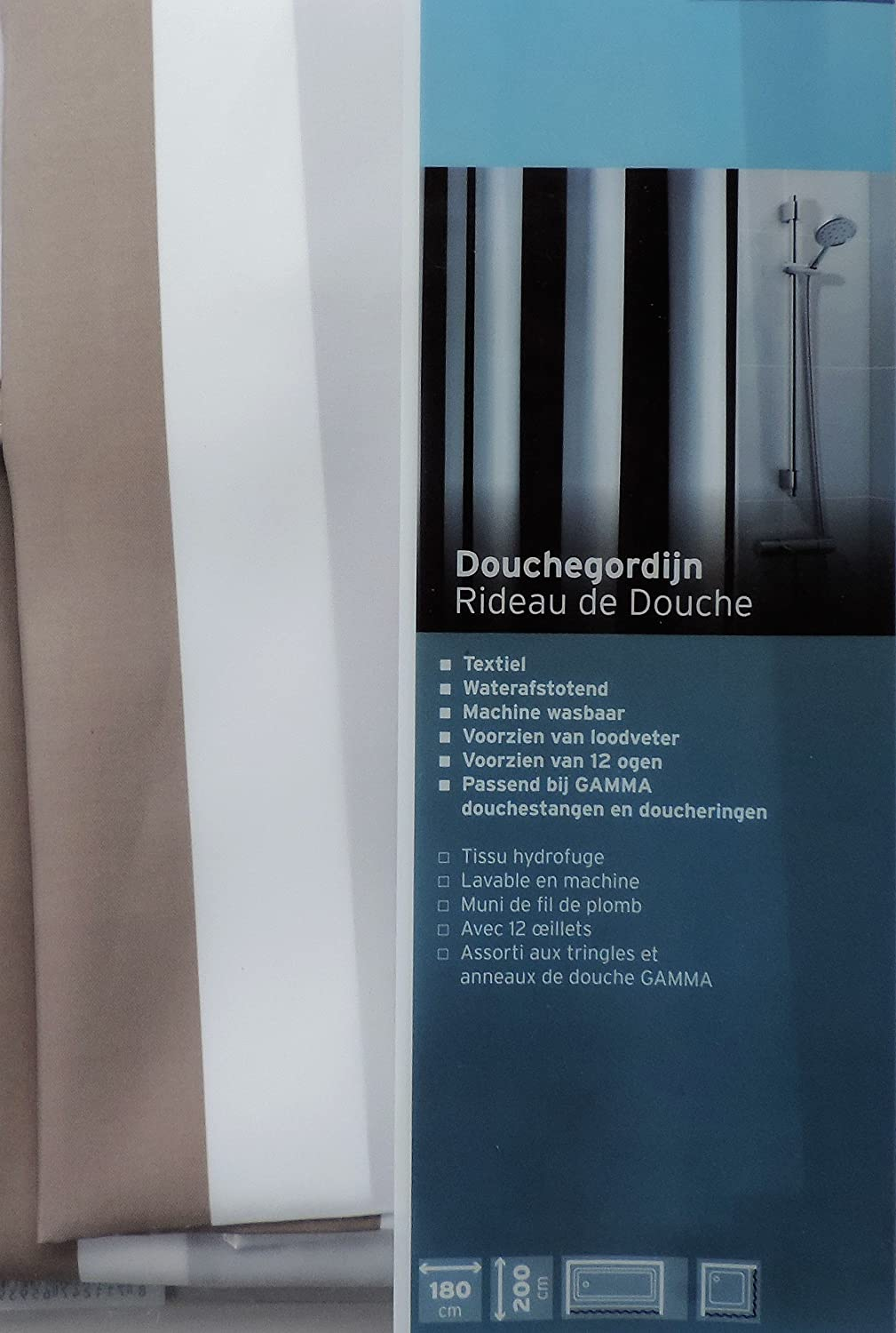 Loodveter 100 Gram.Amazon Com Extra Long Shower Curtain 72 X 78 Inch Gamma Gray And
