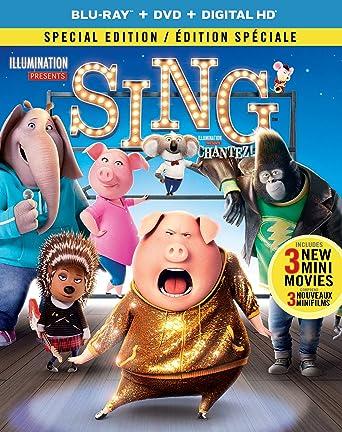 Sing Blu Ray Dvd Digital Hd Bilingual Amazon Ca