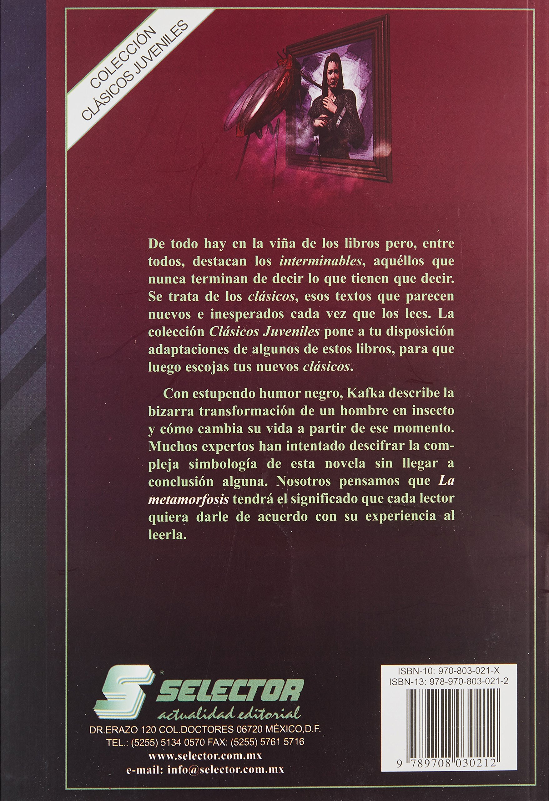 Amazon.com: La metamorfosis (Spanish Edition) (9789708030212 ...