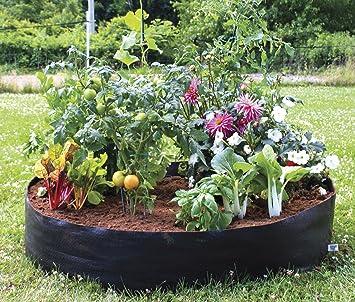 High Quality Raised Garden Bed  Circular Fabric U2013Portable U2013 50u201dDiameter X 12u201d High