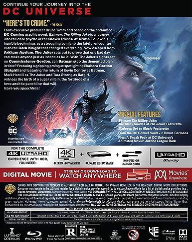Batman: The Killing Joke 4K Ultra HD/Blu-ray/Digital: Amazon