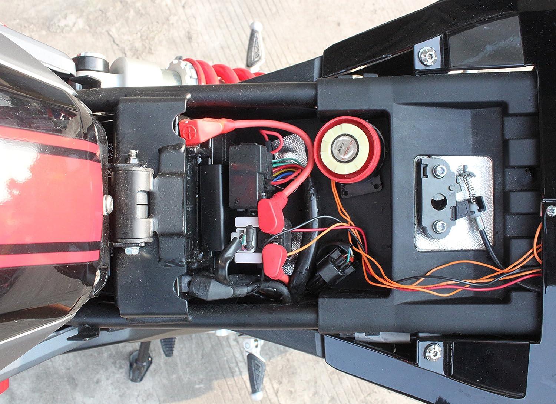 non Intrusif 12v 12 Volts Universel pour Moto Scooter Quad V/élo Compact Alarme No Coupe Fils T/él/écommande Contr/ôle