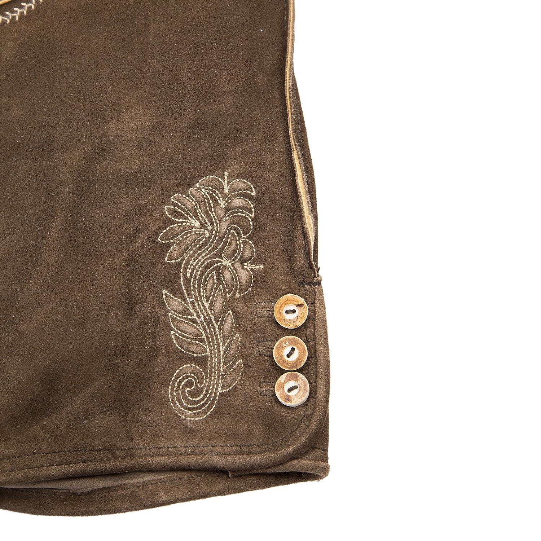 Herren Lederhose altbraun ZV antik 3450 Lederhosen mit Tr/äger Gr 44-58 Trachten Echtes Leder Trachtenlederhose Oktoberfest Wiesn