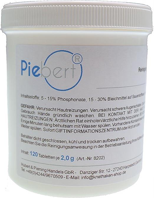 120 pastillas de limpieza para cafeteras | por ejemplo Ley, Siemens EQ, Bosch Vero | Práctica lata, tabletas removedoras de grasa de café cada Ø15mm 2g: Amazon.es: Hogar