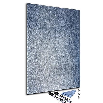 Pizarra magnética de cristal 40 x 60 cm Whiteboard pared se ...