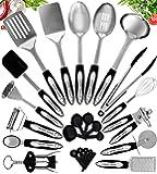 Home Hero Stainless Steel Kitchen Cooking Utensils - 25 Piece Kitchen Utensil Set - Nonstick Kitchen Utensils Cookware…
