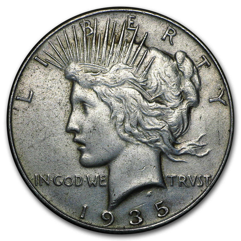 1935 Silver Peace Dollar XF