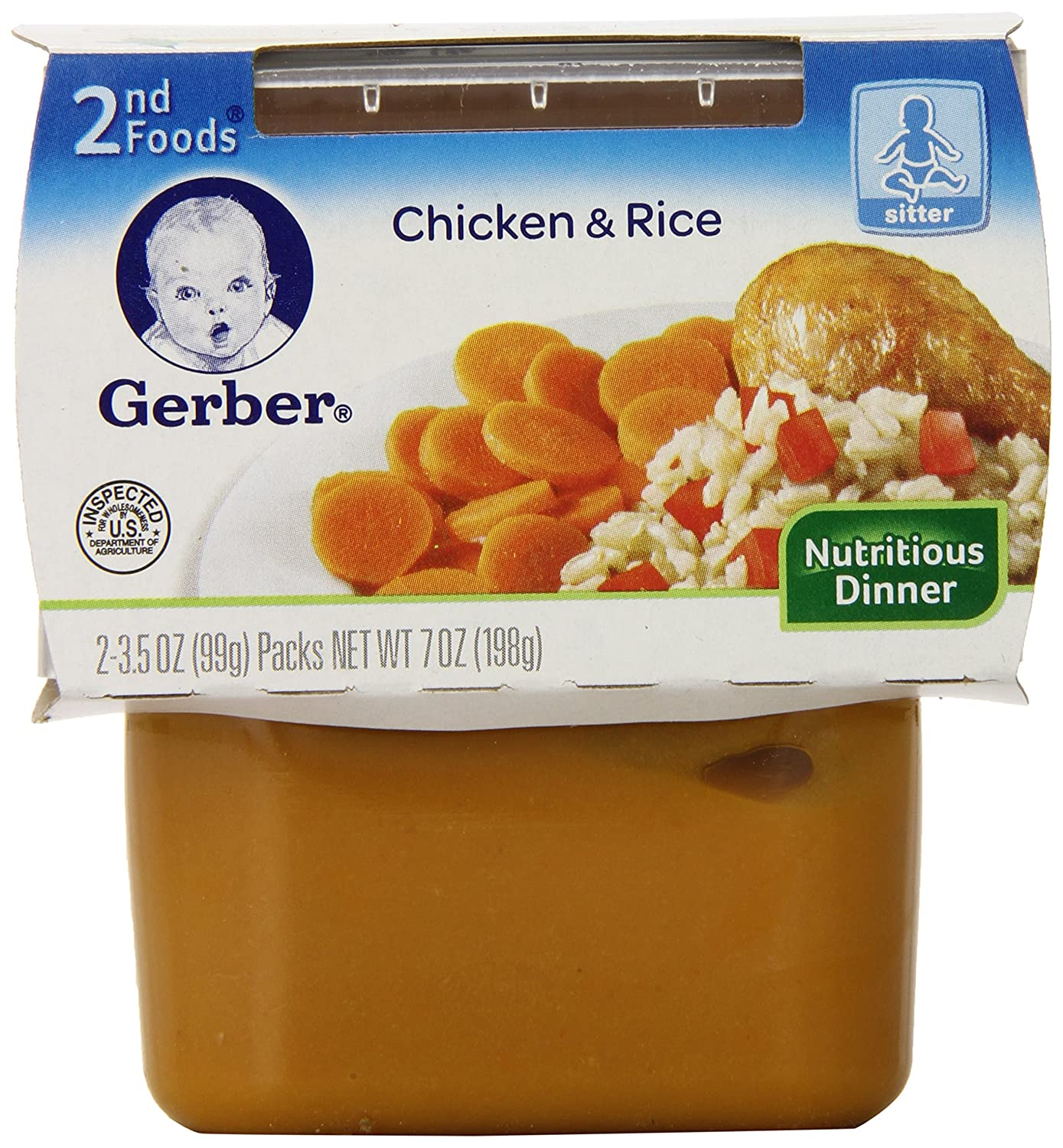 Gerber 2nd Foods Chicken Rice, 2 Count (Pack of 8)