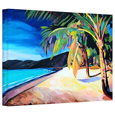 Art Wall Magen s Bay St. Thomas Virgin Islands Gallery Wrapped Canvas Artwork by Markus Bleichner, 24 by 36-Inch