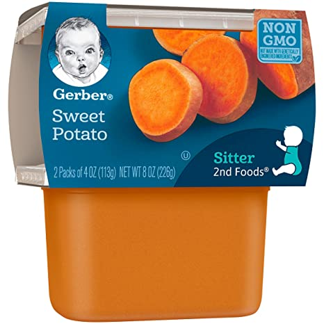 gerber 2nd foods sweet potatoes 4 ounce tubs 2 count pack of 8 amazon com grocery gourmet food