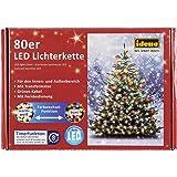 Idena LED Lichterkette 80er, ca. 16 m, für innen/außen (1, warm-weiß | bunt [umschaltbar])