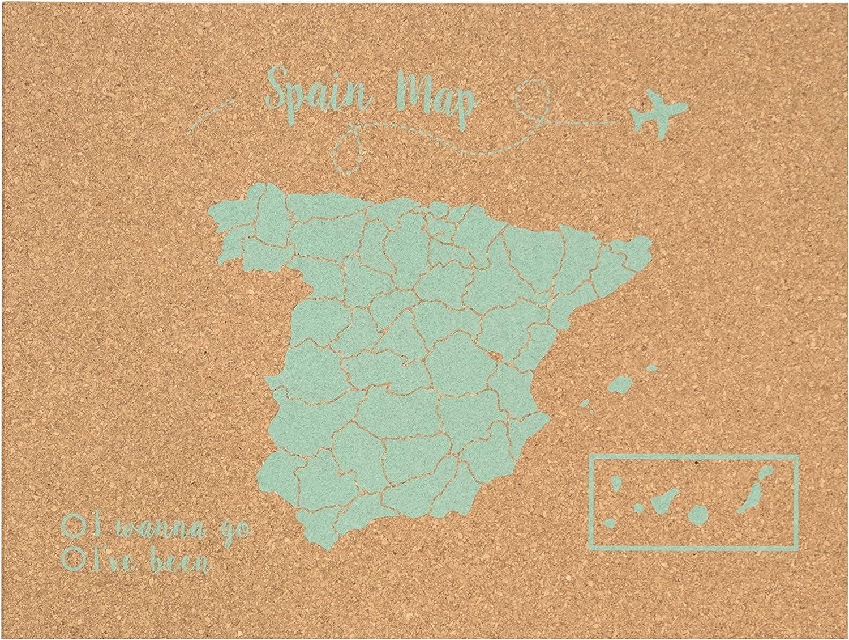 Decowood - Mapa de Corcho España, Pequeño, para Marcar Tus Viajes ...