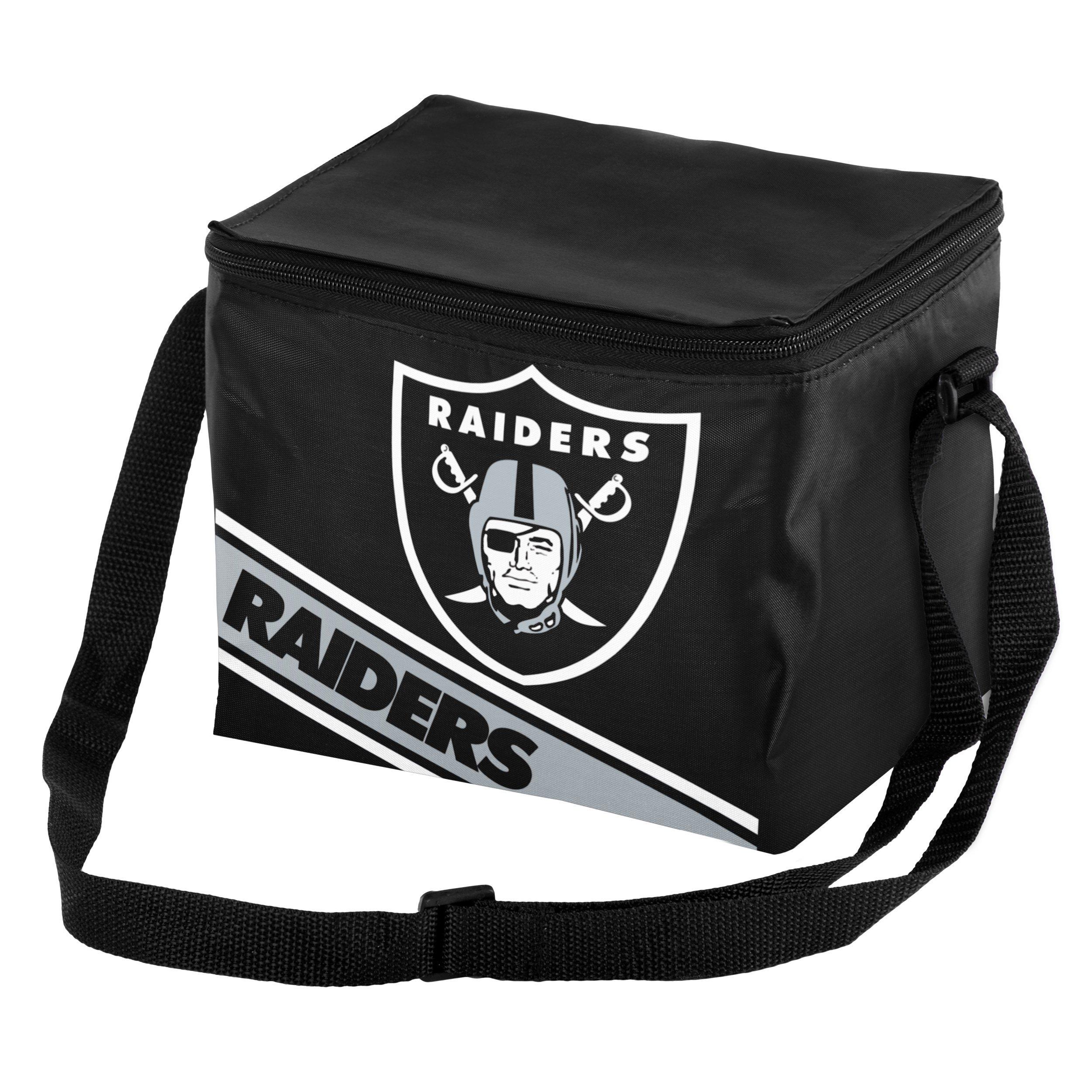 Oakland Raiders Big Logo Stripe 6 Pack Cooler
