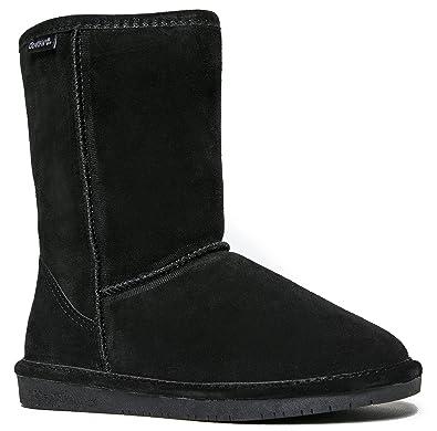 Women's Emma Short Shearling Boots 608-W Black