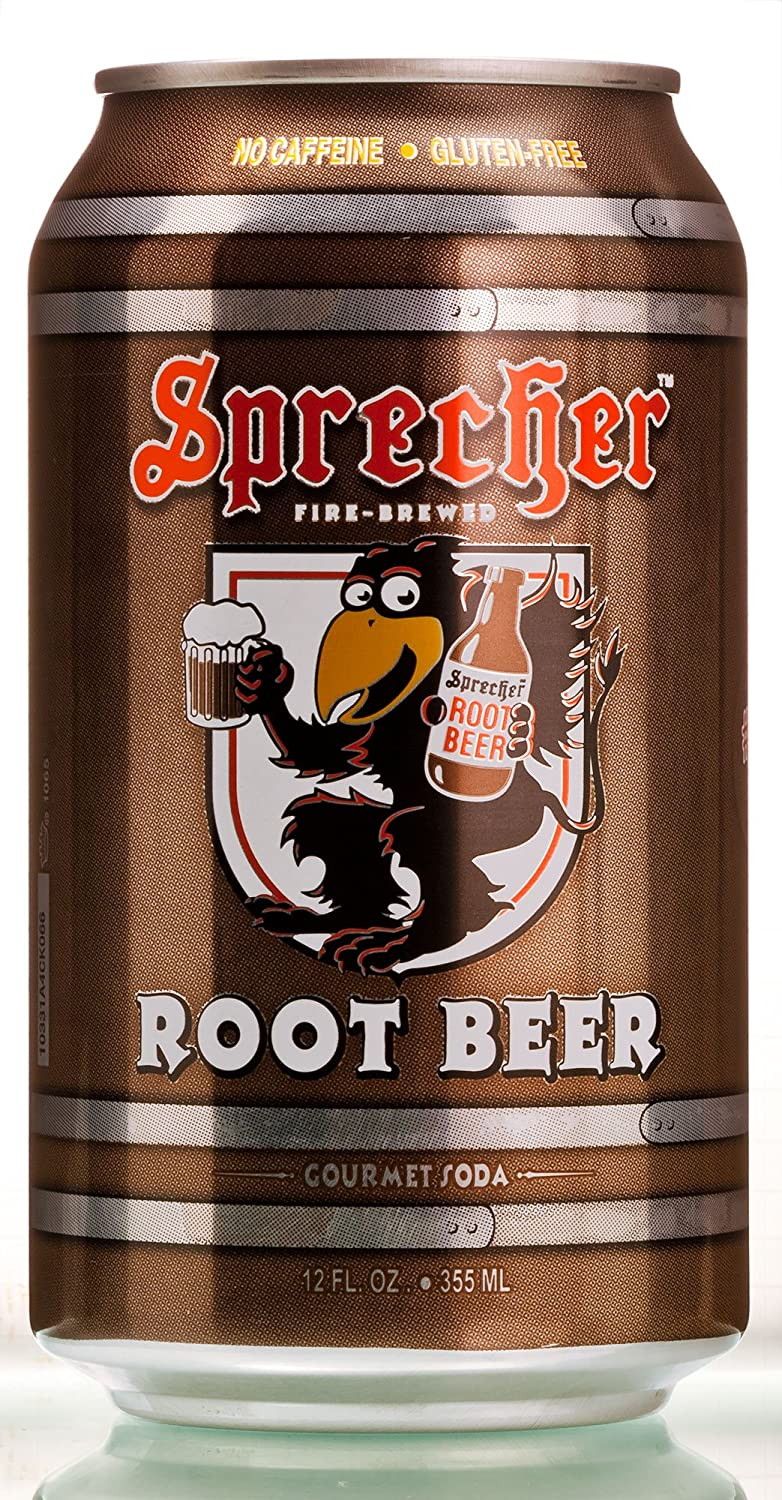 Sprecher Root Beer Can 12 oz (Pack of 6)