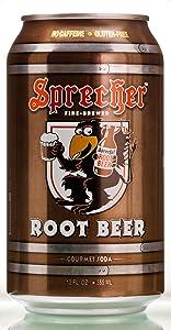 Sprecher Root Beer Can 12 oz (Pack of 6)