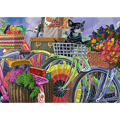 Ravensburger 14995 Bicycle Group 300 Piece Large Pieces Jigsaw Puzzle for Adults - Every Piece is Unique, Softclick Technology Means Pieces Fit Together Perfectly: Toys & Games