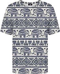 afdfa46c8ea71b Mr Gugu   Miss Go Woman Man Printed T-Shirt Elephants Pattern