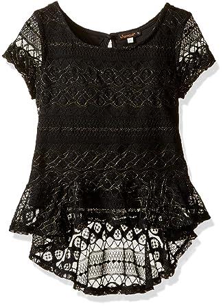 d2b8316cae50 Amazon.com  Ella Moss Girls Slim Size Isla Short Sleeve Peplum Top ...