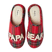 Deals on Dearfoams Mens Papa Bear Slipper