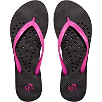 Showaflops Womens' Antimicrobial Shower & Water Sandals for Pool, Beach, Dorm and Gym - Hearts Collection