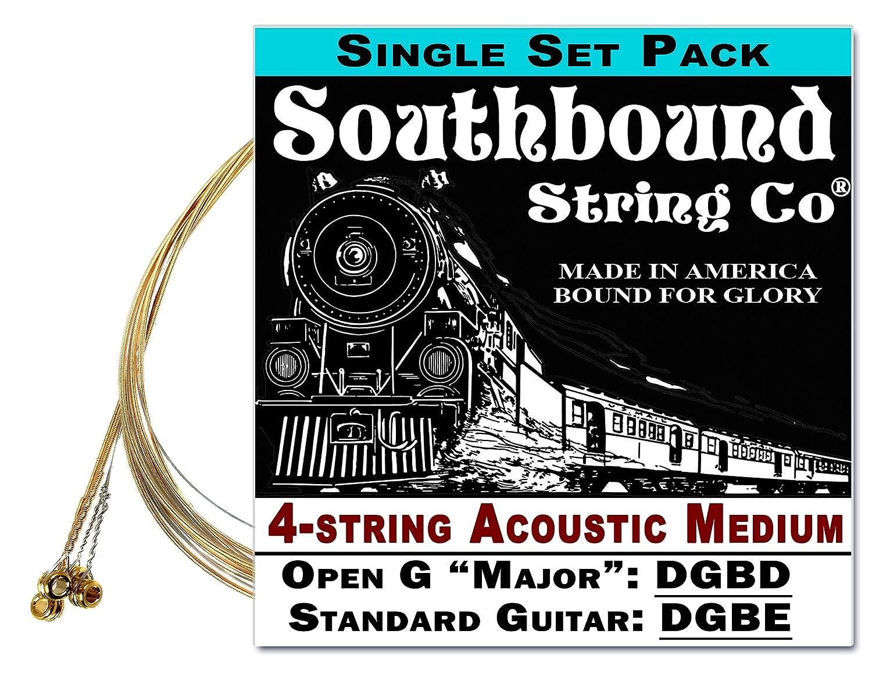 Acoustic Medium 4-String Cigar Box Guitar Strings - Open G/Standard Tuning C. B. Gitty Crafter Supply Sou-6127