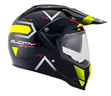 Suomy Casco para Moto Integral Enduro Trail/Mx, Amarillo (Road Yellow, M