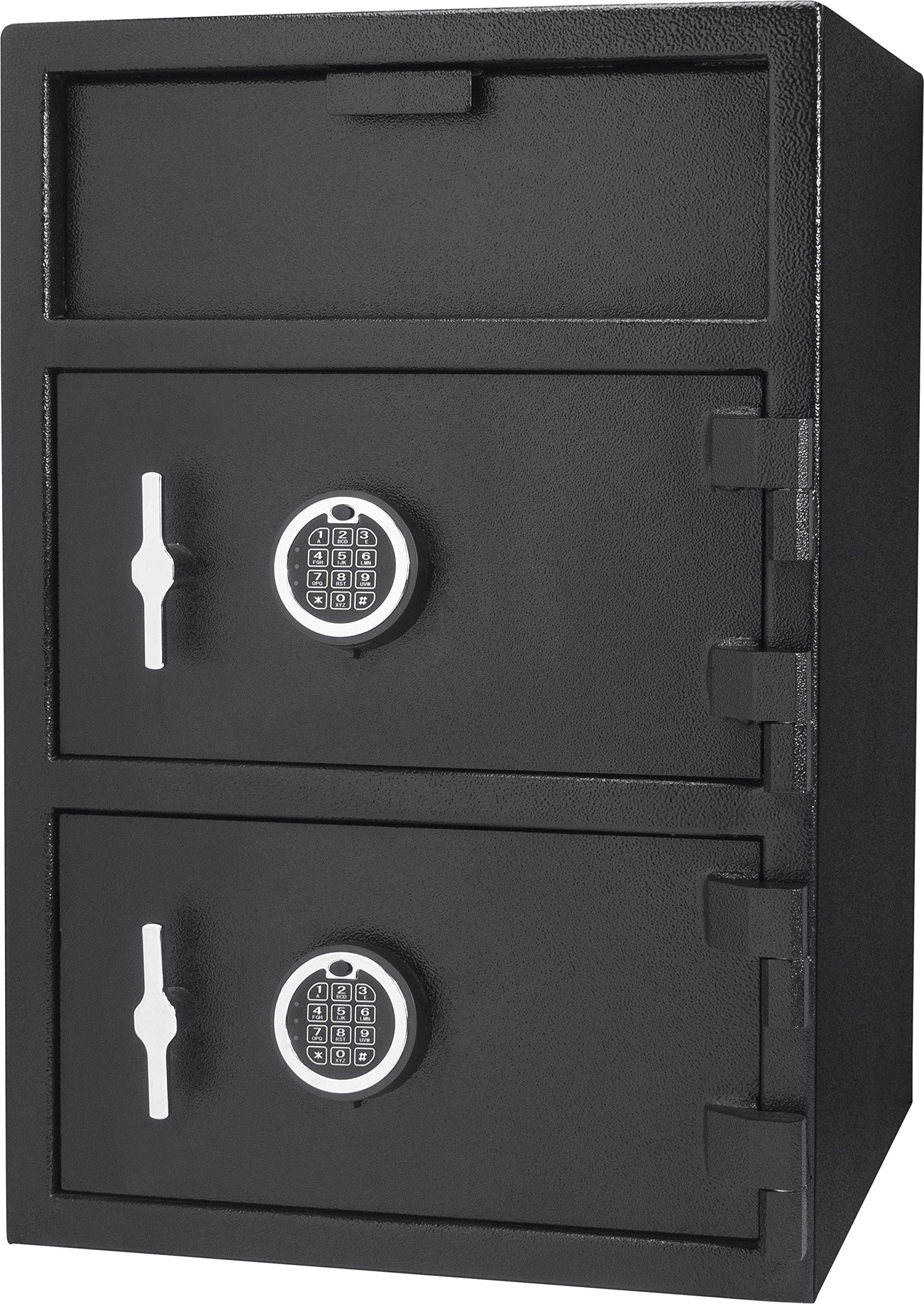 Barsaka Steel Double Door Depository Safe Front Loading Drop Slot Parcel Mail Safe with Locker Dual Electronic Lock