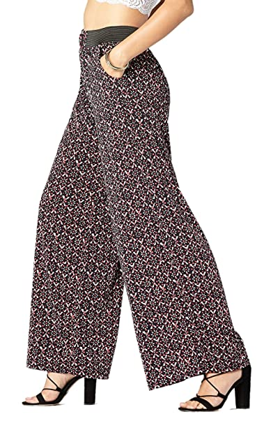 b3f5a0a9bb Premium Women s Palazzo Pants with Pockets - High Waist - Solid and Printed  Designs (All