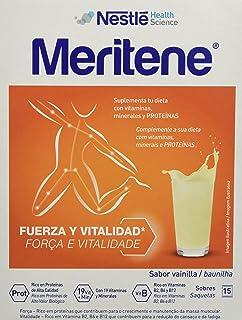 Nestlé Meritene - Complemento alimenticio, sabor vainilla, 15 sobres