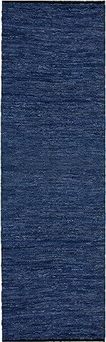 Blue Leather Matador 2.5 x12 Rug