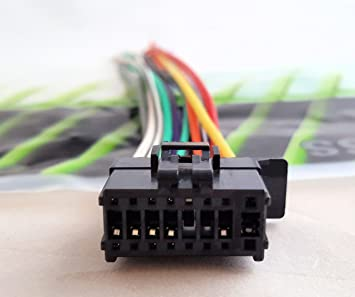91StdQy6RoL._SX355_ amazon com pioneer wire harness deh p4200ub deh x6500bt deh x65bt Pioneer Wiring Harness Color Code at alyssarenee.co