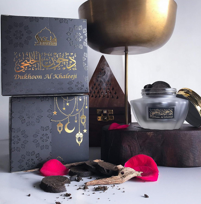 Bakhoor de lujo, estilo árabe, se puede utilizar en un quemador exótico, quemador eléctrico o tradicionalmente en carbón