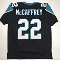 $49 » Unsigned Christian McCaffrey Carolina Black Custom Stitched Football Jersey Size Men's XL New No Brands/Logos