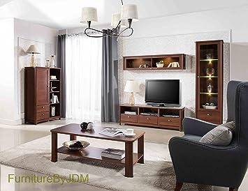 Komplettes Wohnzimmer Möbel Set U0026quot;CALDOu0026quot;   Große TV Bank,  Freistehende