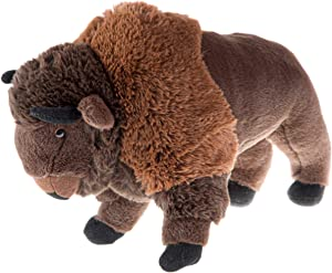 Wild Republic Bison Plush, Stuffed Animal, Plush Toy, Kids Gifts, Zoo Animals,13 inches