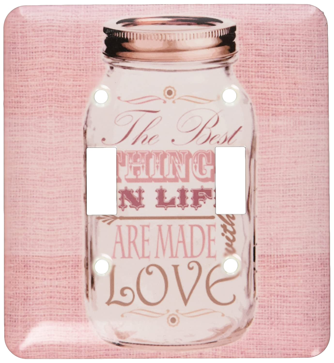3drose LSP_ Are 128508 Made_ 2 Mason Jar on黄麻布印刷ピンクThe Gifts Best Things In Life Are Made with Love Gifts for the Cookダブル切り替えスイッチ B00DEQZNIQ, ひな福かぐ福:33caf766 --- number-directory.top