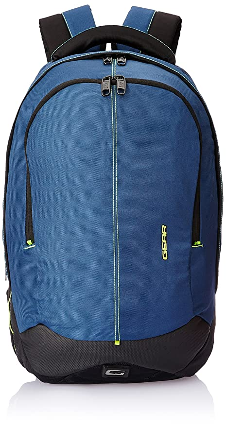 7c01b15407 Gear Outlander 36 ltrs Navy Blue and Green Casual Backpack (BKPOTLNR30503)   Gear design studio  Amazon.in  Bags