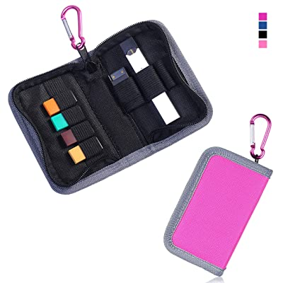 Carrying Case Wallet Holder for JUUL and Other Popular Vapes | Holds Vape, Pods and Charger | Fits in Pockets or Bags(Pink): Home Audio & Theater